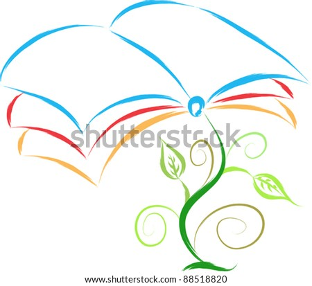 book plant abstract illustration