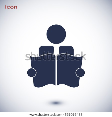 Book Reader Sign Icon, vector best flat icon, EPS