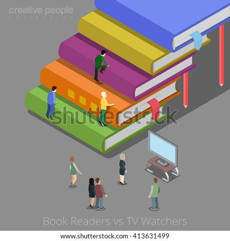 book readers and tv watchers