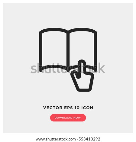 Book reading vector icon, read symbol. Modern, simple flat vector illustration for web site or mobile app