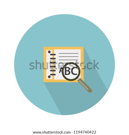 book search, book search icon isolated on white background. find Vector illustration