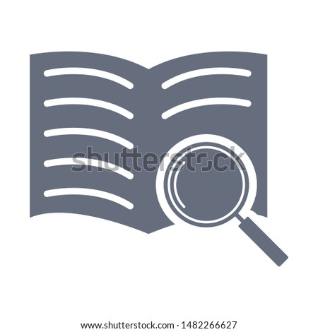 Book search icon. Magnifying glass or search icon. Search icon vector.