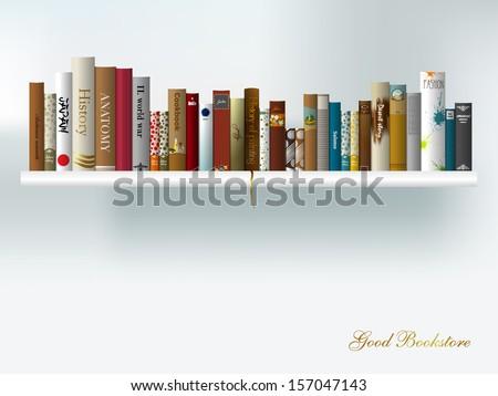 book shelf vector illustration