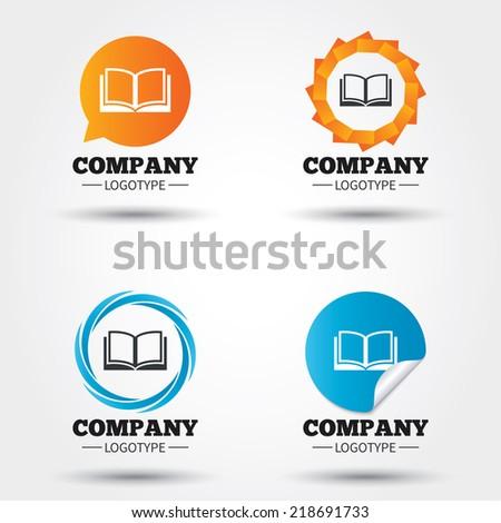 Open Book Icon Book Sign Icon Open Book