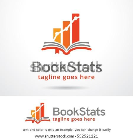 Book Stats Logo Template Design Vector/ Icon Design