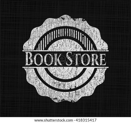 Book Store chalkboard emblem