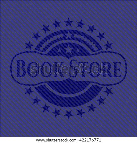Book Store emblem with jean high quality background