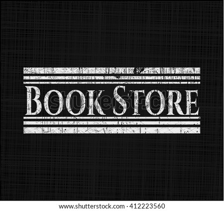 Book Store with chalkboard texture