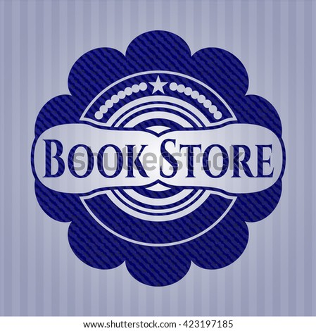 Book Store with denim texture