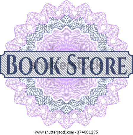Book Store written inside abstract linear rosette