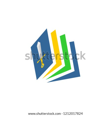 Book story abstract amazing design for your company or brand