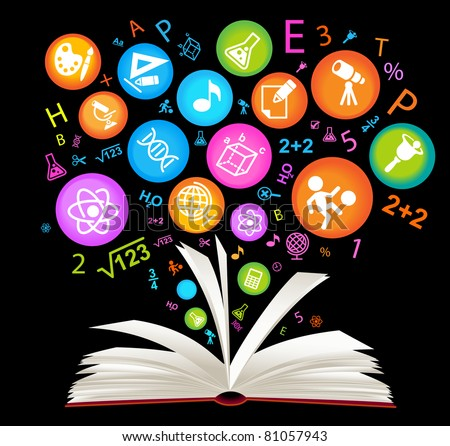 stock vector : book symbol.The School of sciences