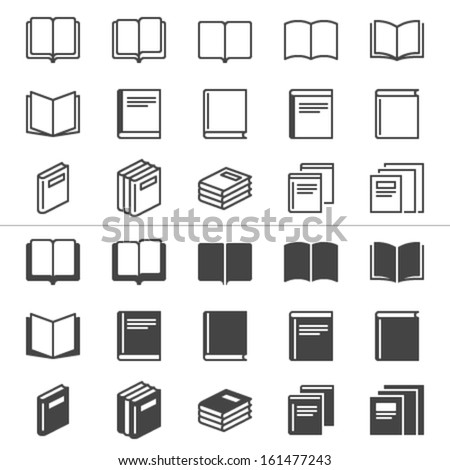 book thin icons  included