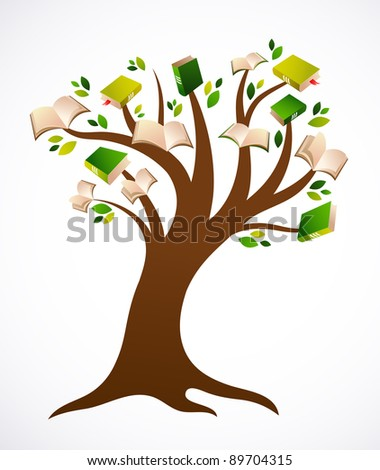 book tree vector ilustration