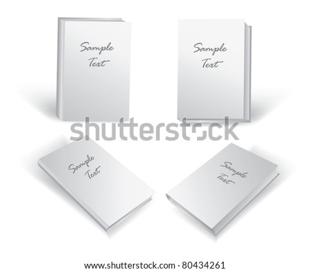 book with a blank cover on a white background