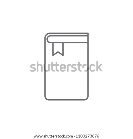 book with a bookmark icon. Element of web icon for mobile concept and web apps. Thin line book with a bookmark icon can be used for web and mobile. Premium icon on white background