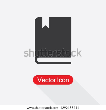 Book With Bookmark Icon Vector Illustration Eps10