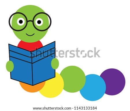 book worm reading