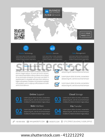 Booklet layout vector illustration corporate flyer poster leaflet booklet layout vector illustration corporate flyer poster leaflet template promotion page wajeb Gallery