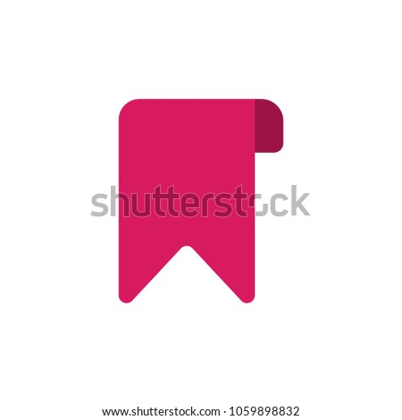 bookmark flat vector icon