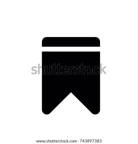 Bookmark icon, Bookmark icon vector, in trendy flat style isolated on white background. Bookmark icon image, Bookmark icon illustration