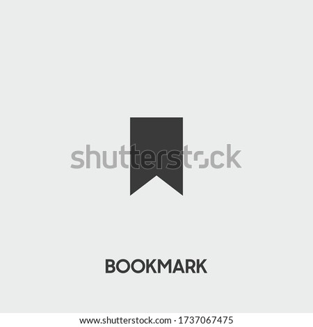 bookmark icon. bookmark vector on gray background