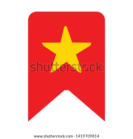 bookmark icon. flat illustration of bookmark vector icon for web