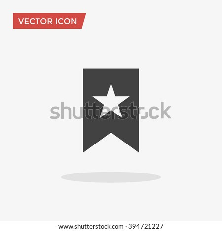 Bookmark Icon in trendy flat style isolated on grey background, for your web site design, app, logo, UI. Vector illustration, EPS10.
