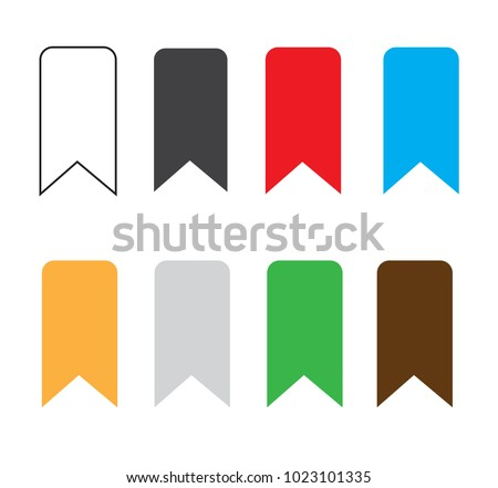 bookmark icon on white background. bookmark sign. flat style. bookmark ribbon sign. vector illustration. set bookmark icon symbol.