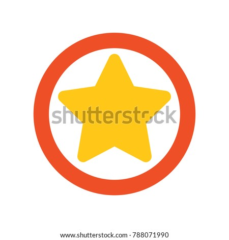 Bookmark icon - star symbol