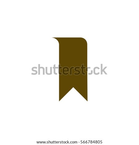 Bookmark icon stock vector illustration flat design
