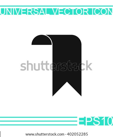 Bookmark icon vector.