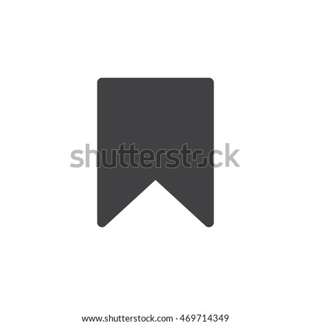 Bookmark icon vector, solid logo illustration, pictogram isolated on white