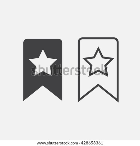 bookmark line icon, outline and solid vector logo, linear pictogram isolated on white