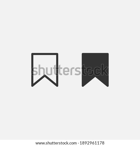 Bookmark social media icon isolated on background. modern save bookmark symbol, simple, vector, icon for website design, mobile app, ui. Vector Illustration Сток-фото ©