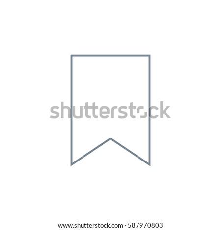 Bookmark Vector Icon on white background. Gray icon