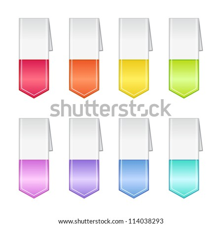 Bookmarks in Pastel Colors