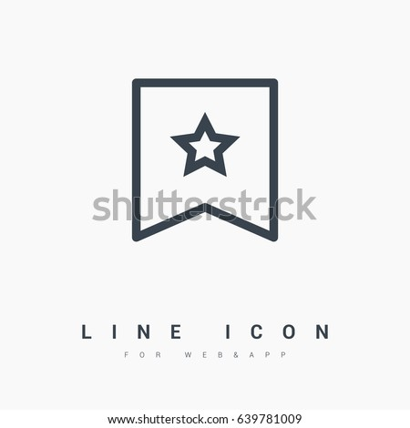 Bookmarks line vector icon