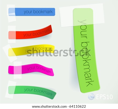 Bookmarks. Vector. - stock vector
