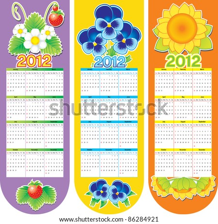 Bookmarks with flowers