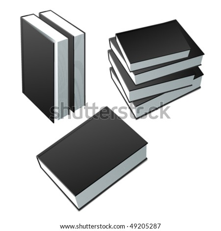 Books collection. Editable vector. No mesh. - stock vector