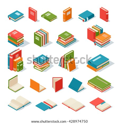 books collection isolated on a