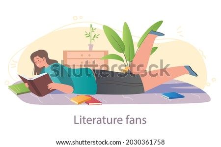 Books for kids concept. Mom reads interesting mystical fairy tale her little daughter. Bedtime stories for children. Unusual characters. Cartoon flat vector illustration isolated on white background