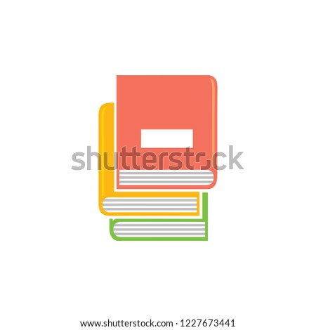 books icon, vector education books - books library, education icon