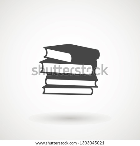 Books icon vector, solid illustration, pictogram isolated on white. High quality pictograms of read. Modern style icons collection. Diary, book, library, pages, textbook etc