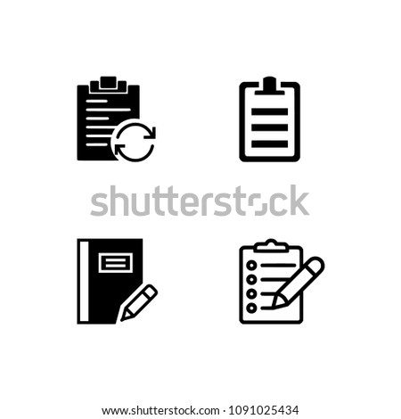 Books line icon set #2. Included the icons as book shelf, stack, read, notebook. Professional pixel perfect black & white icons optimized for both large and small resolutions. Transparent background. #1091025434