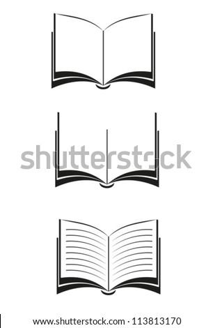 books vector black eps 10