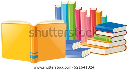 stock-vector-books-with-many-colors-cover-illustration