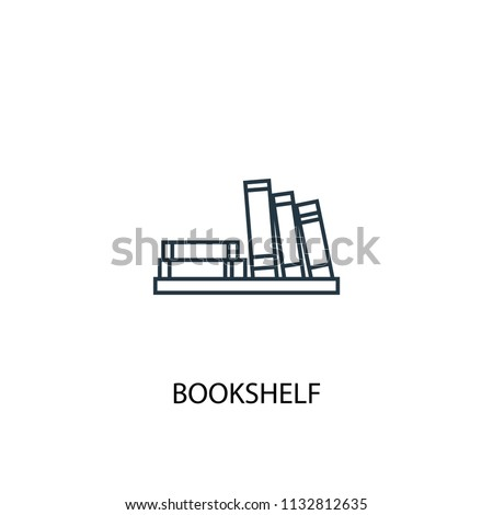 Bookshelf concept line icon. Simple element illustration. Bookshelf concept outline symbol design from Workspace set. Can be used for web and mobile UI/UX