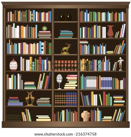 bookshelfvector background